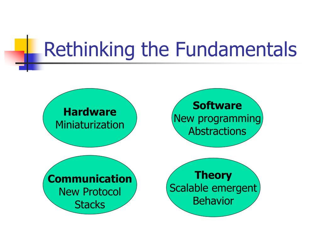 Rethinking the Fundamentals