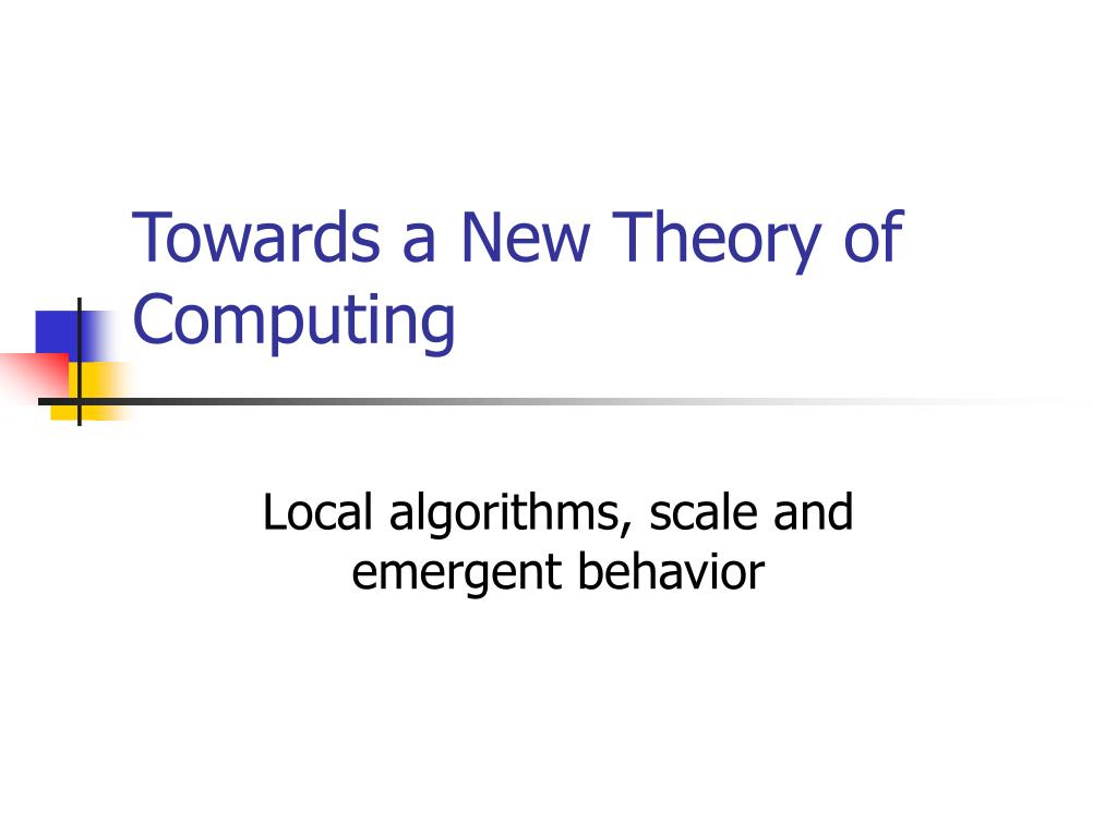 Towards a New Theory of Computing