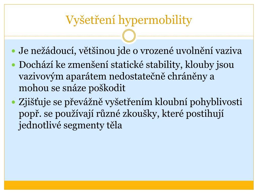 Vyšetření hypermobility