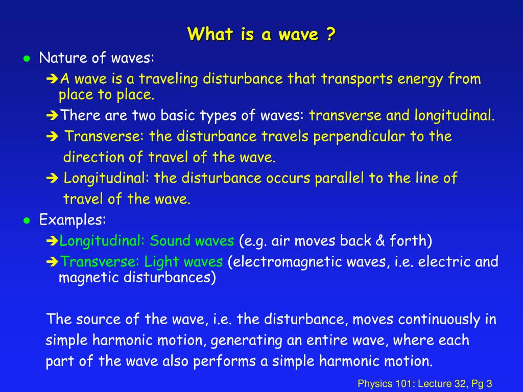 What is a wave ?