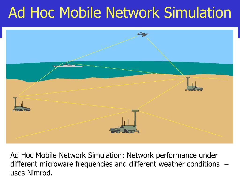 Ad Hoc Mobile Network Simulation