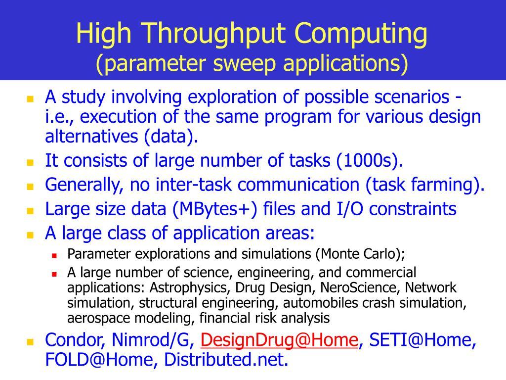 High Throughput Computing