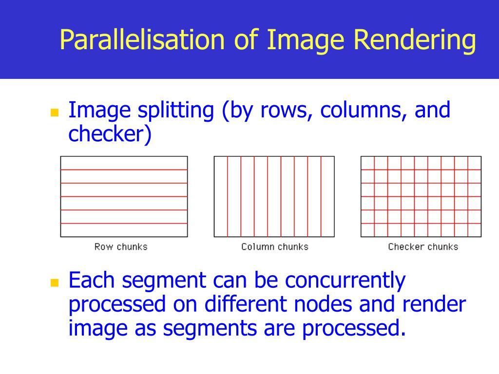Parallelisation of Image Rendering