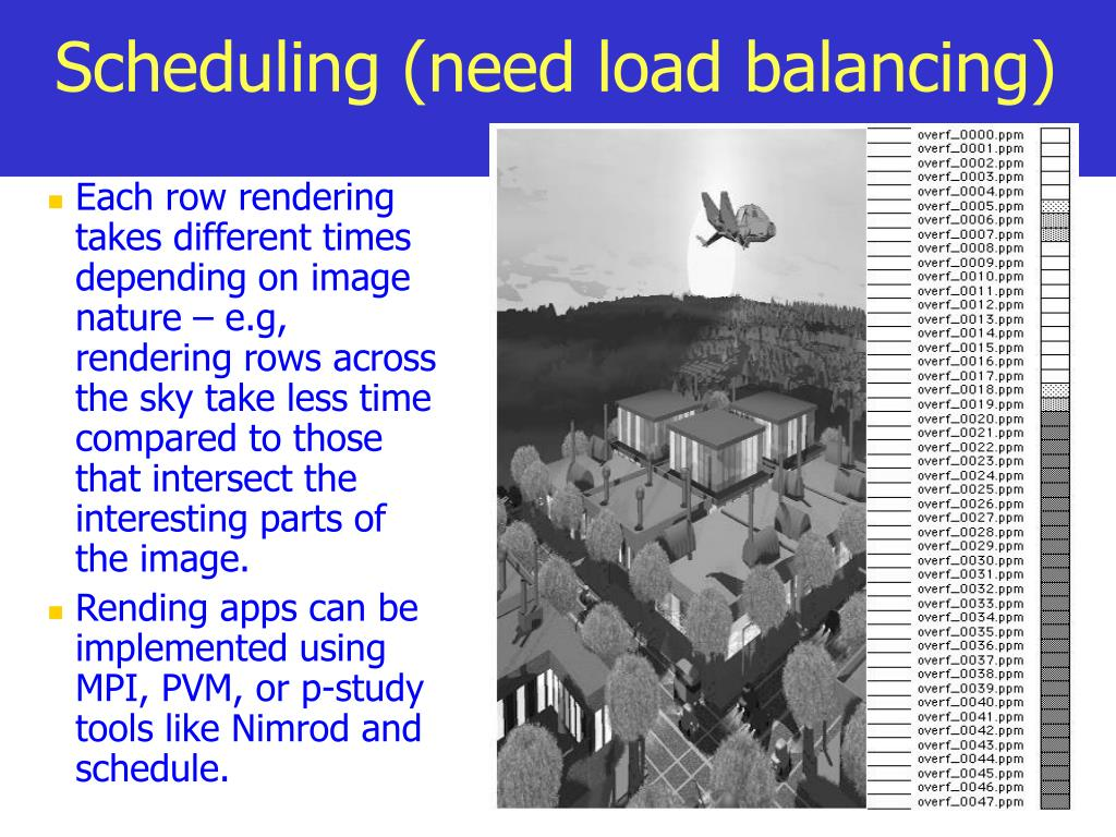 Scheduling (need load balancing)