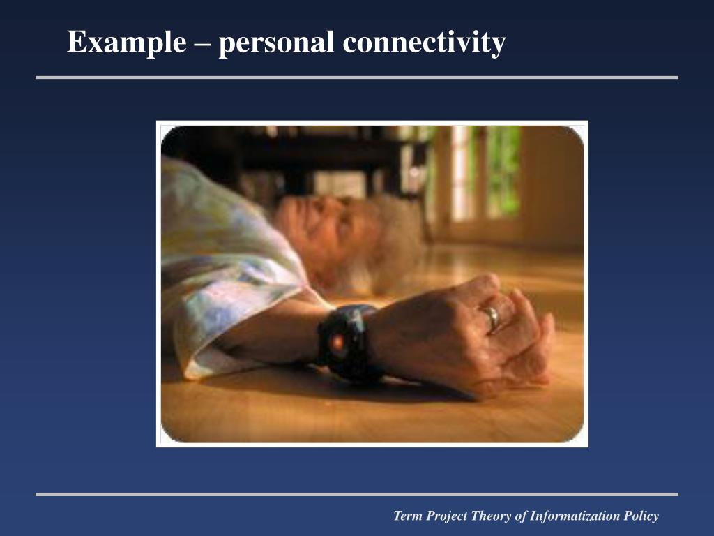 Example – personal connectivity