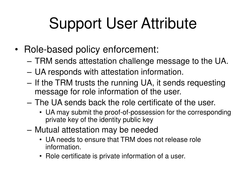 Support User Attribute