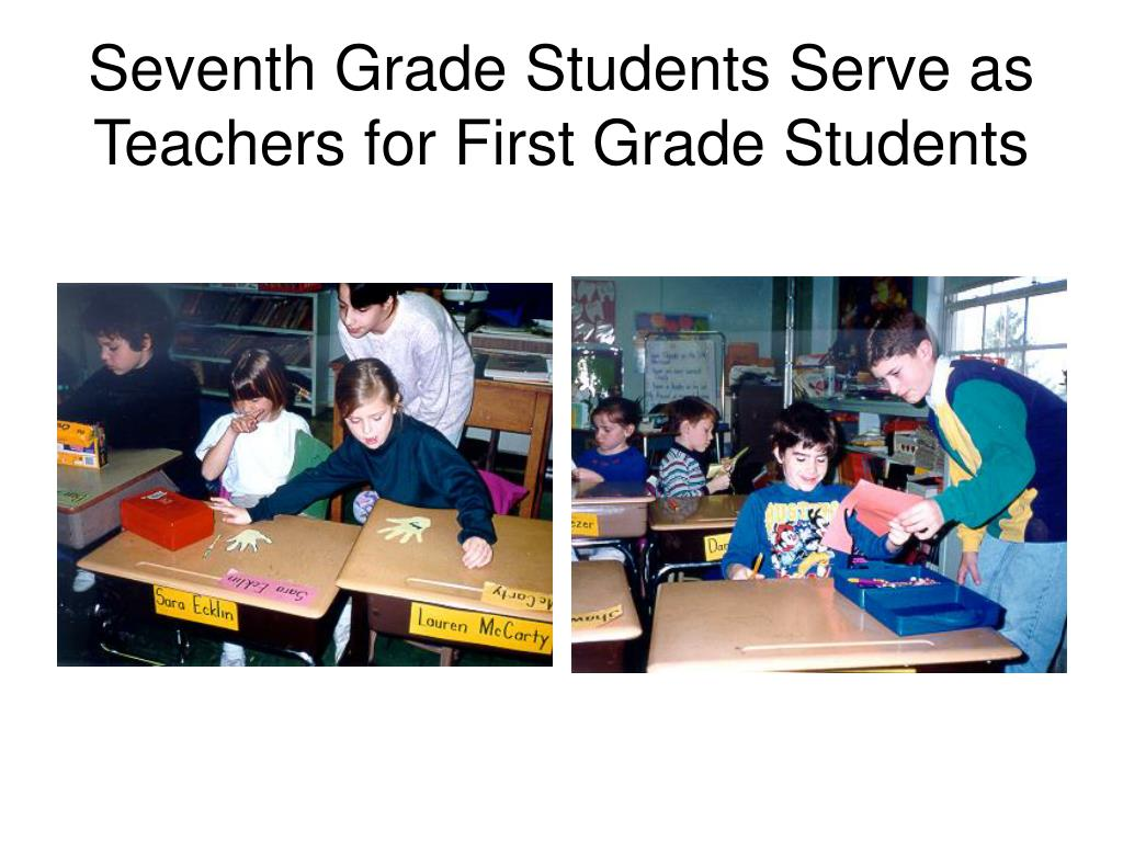 Seventh Grade Students Serve as Teachers for First Grade Students