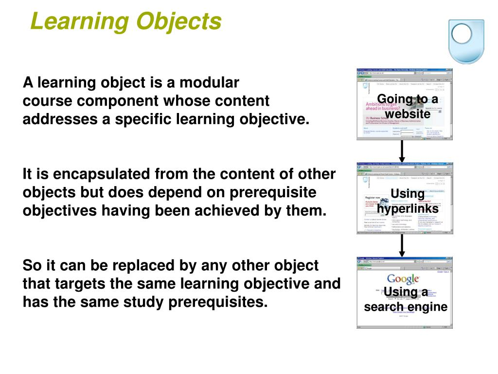 A learning object is a modular