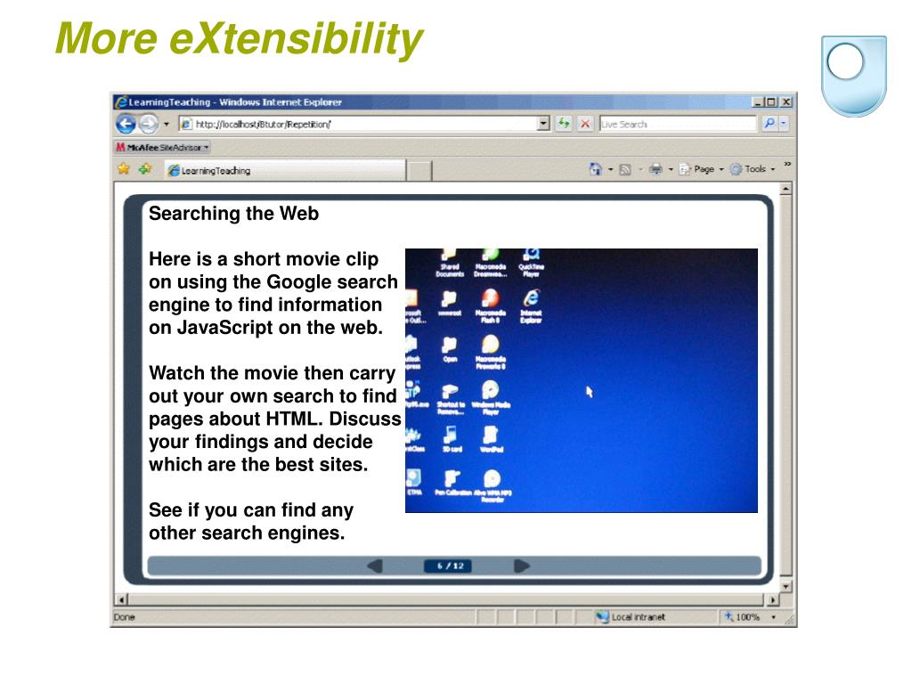 More eXtensibility