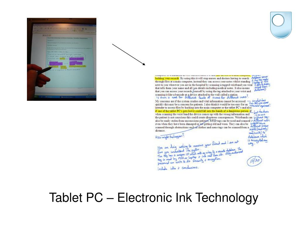 Tablet PC – Electronic Ink Technology