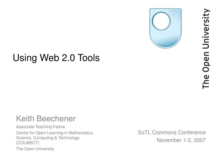 Using web 2 0 tools