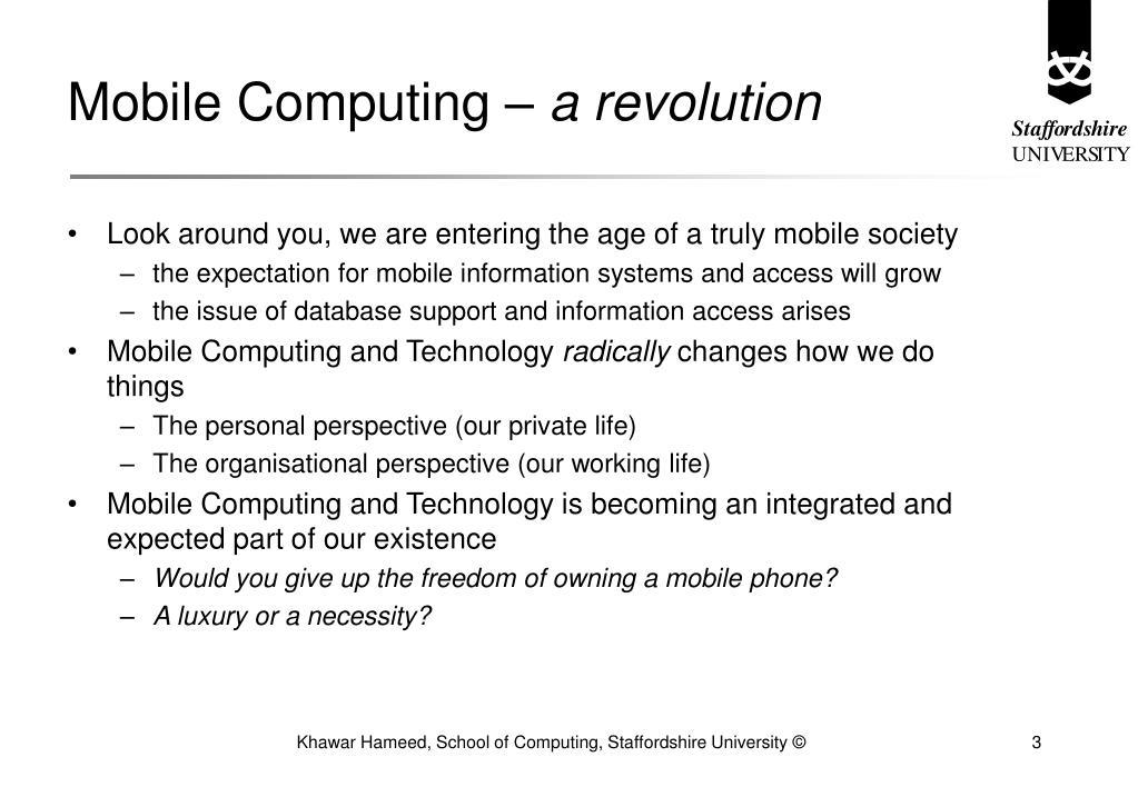 Mobile Computing –