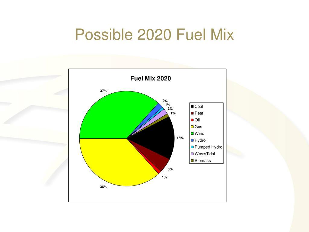 Possible 2020 Fuel Mix