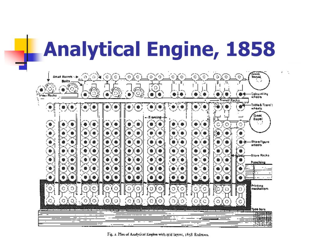 Analytical Engine, 1858