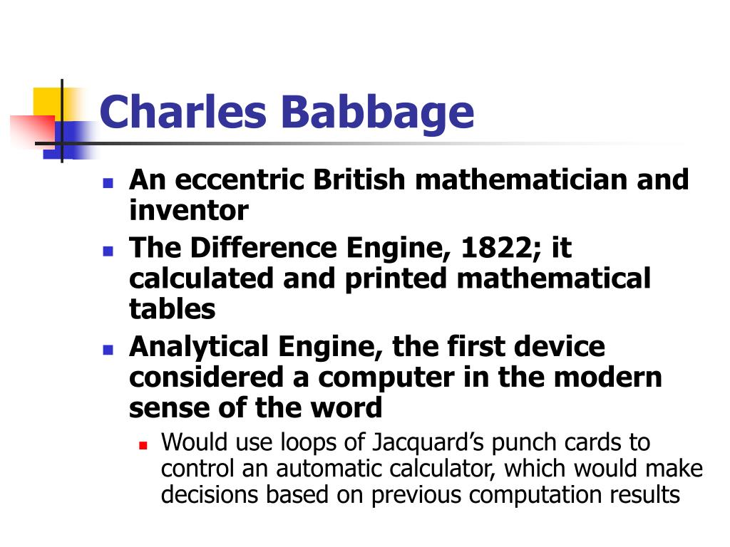 An eccentric British mathematician and inventor