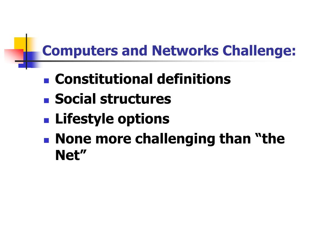 Computers and Networks Challenge: