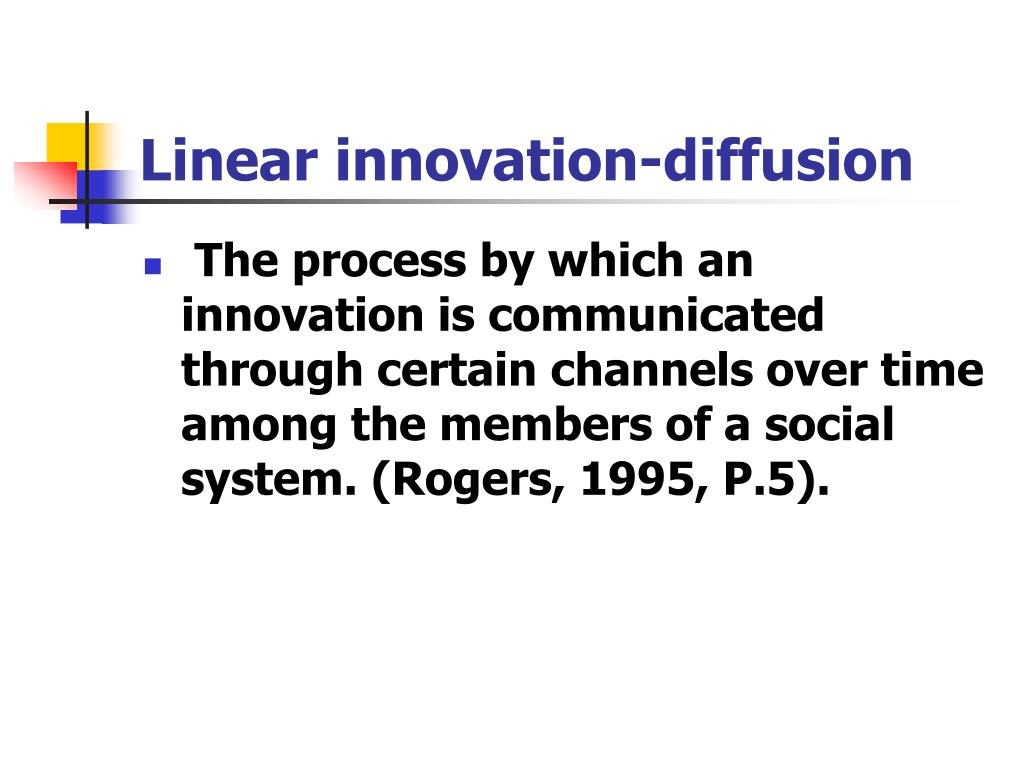 Linear innovation-diffusion