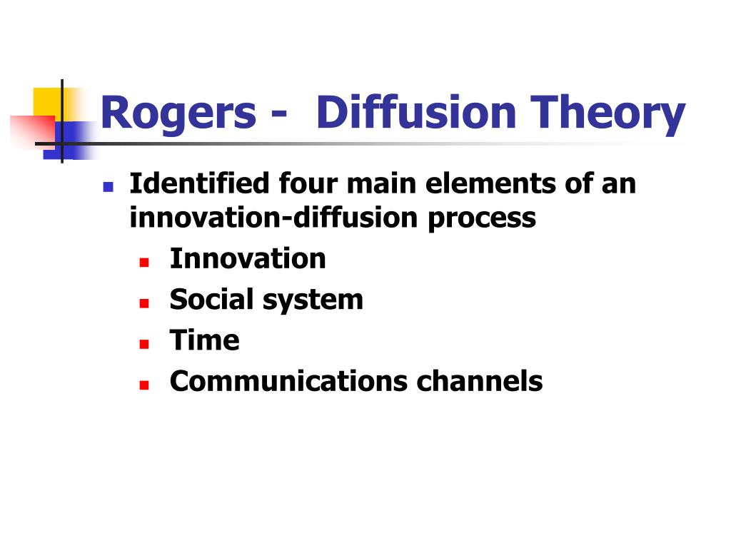 Rogers -  Diffusion Theory