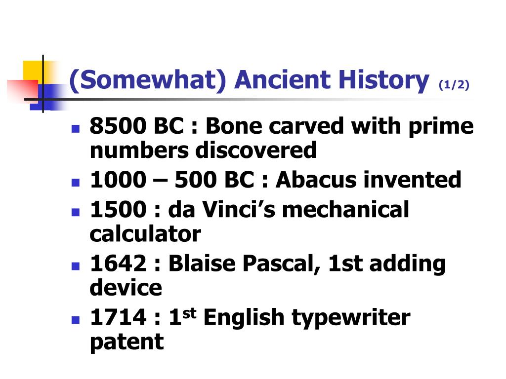 (Somewhat) Ancient History