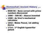 somewhat ancient history 1 2