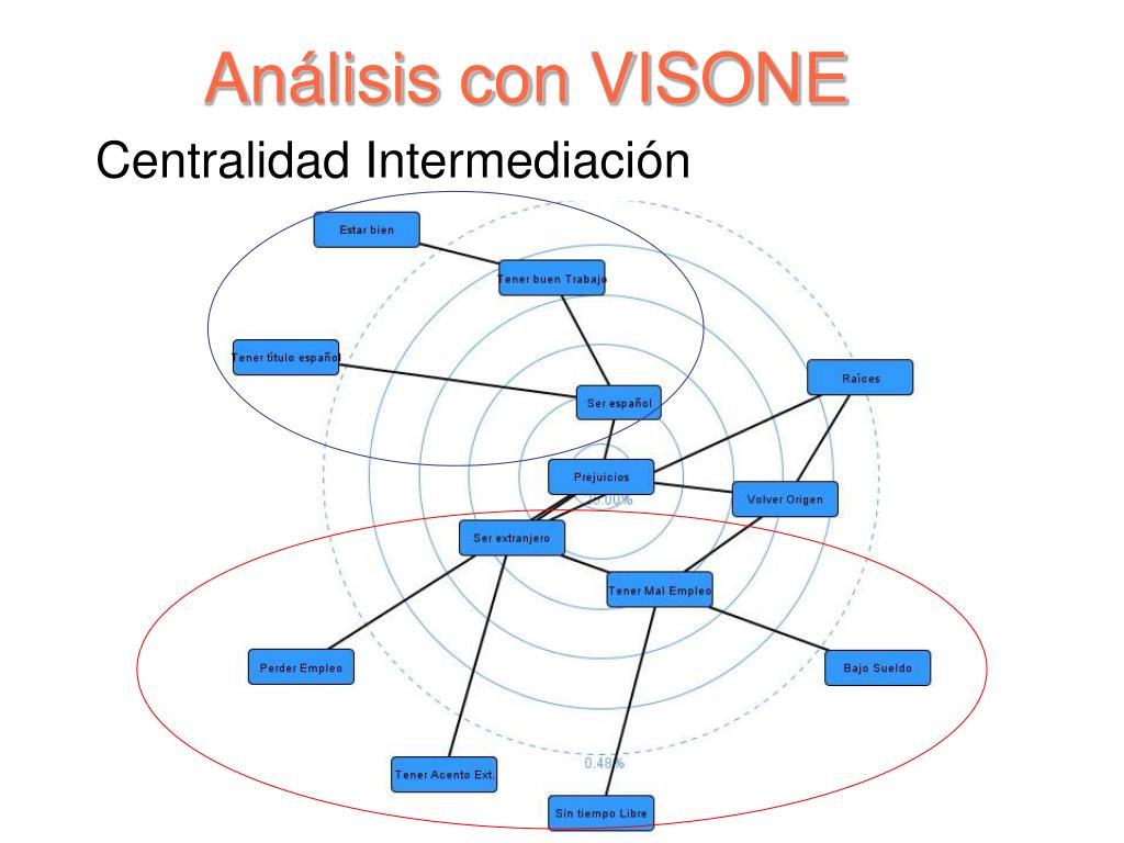 Análisis con VISONE