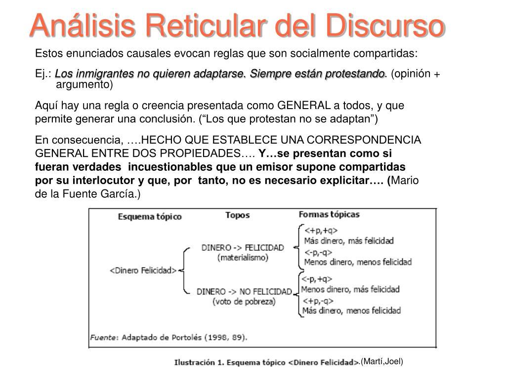 Análisis Reticular del Discurso