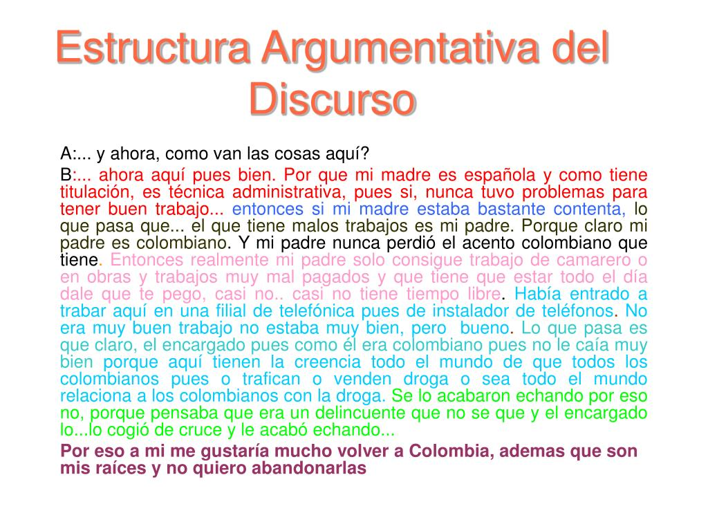 Estructura Argumentativa del Discurso