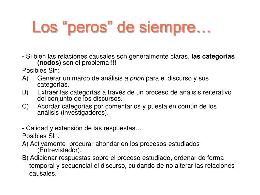 """Los """"peros"""" de siempre…"""