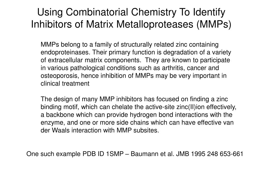 Using Combinatorial Chemistry To Identify
