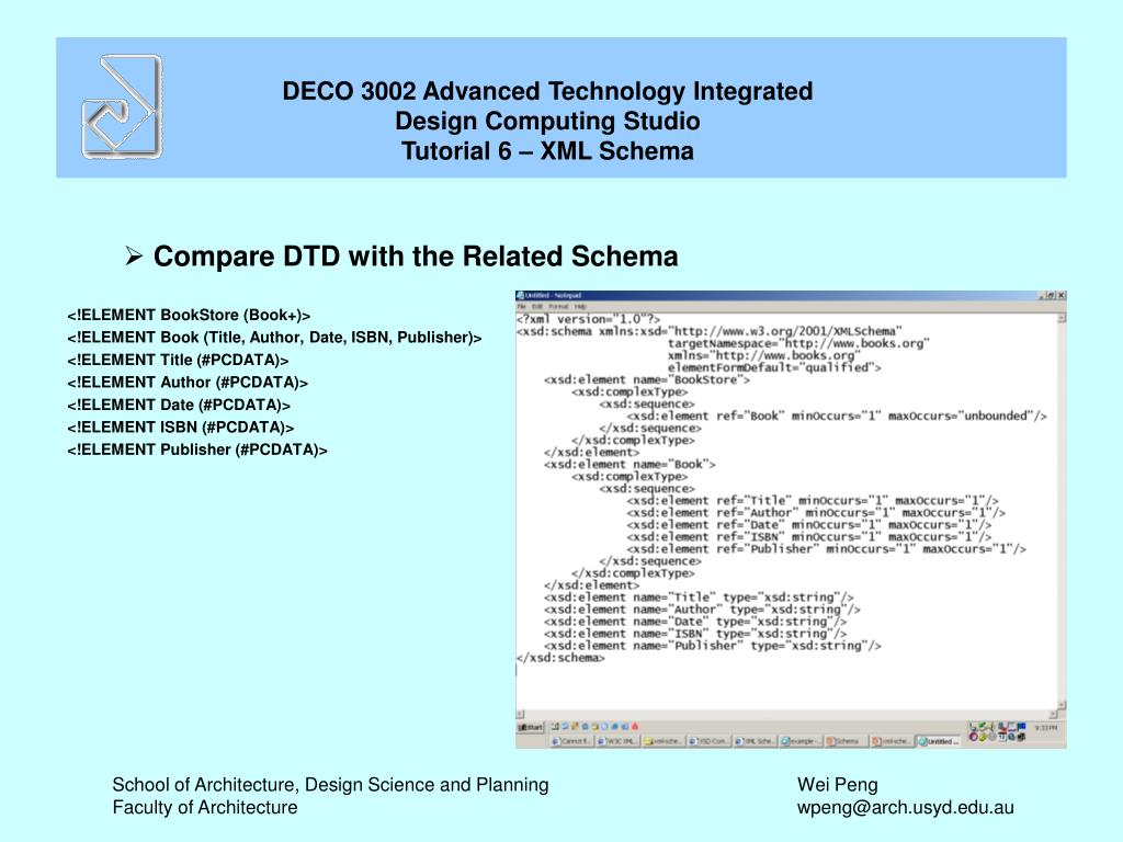 Compare DTD with the Related Schema