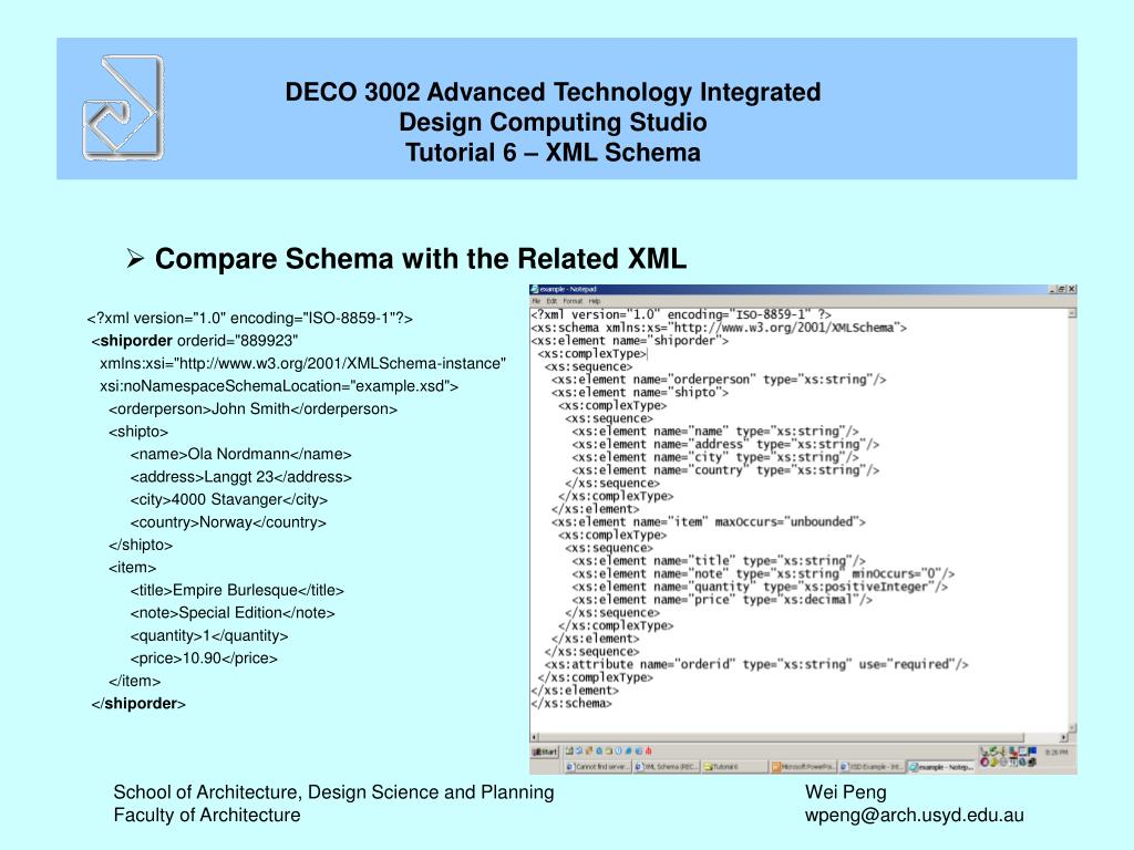 Compare Schema with the Related XML