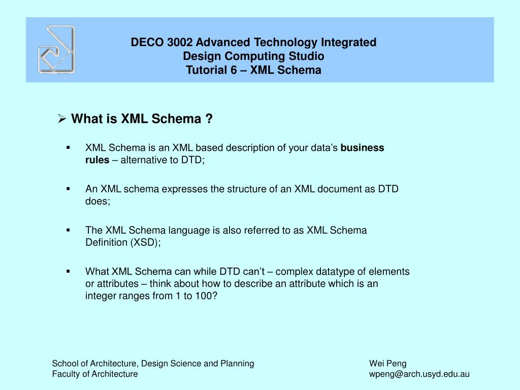 What is XML Schema ?
