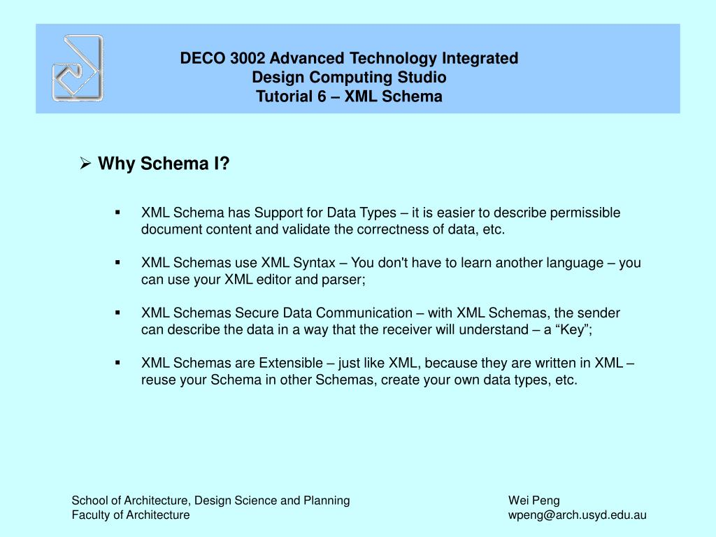Why Schema I?