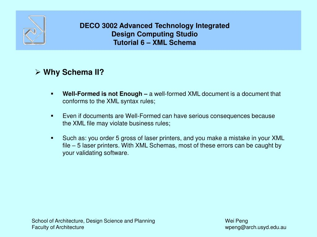 Why Schema II?
