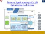 dynamic application specific i o optimization architecture