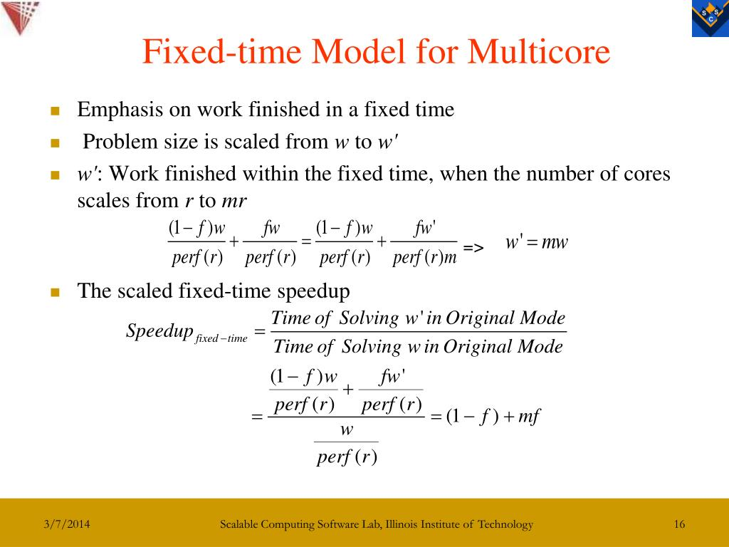 Fixed-time Model for Multicore