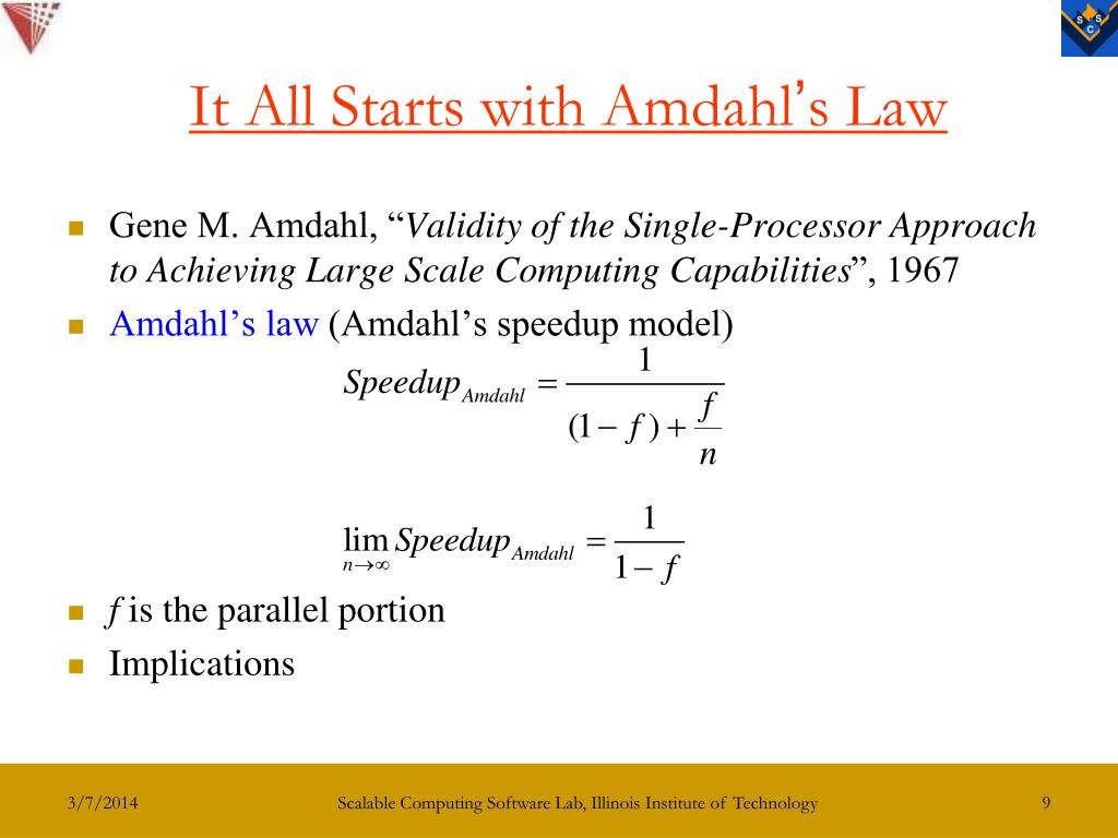 It All Starts with Amdahl