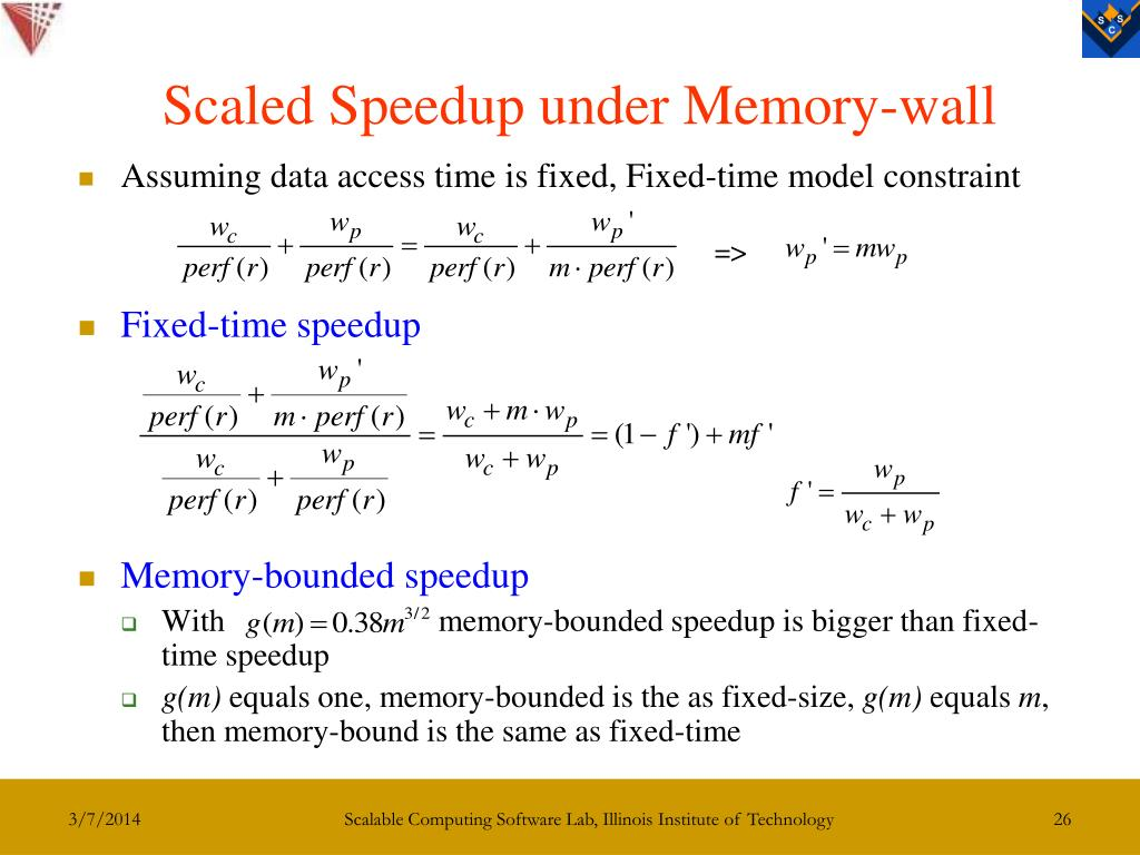 Scaled Speedup under Memory-wall