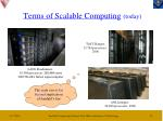 terms of scalable computing today
