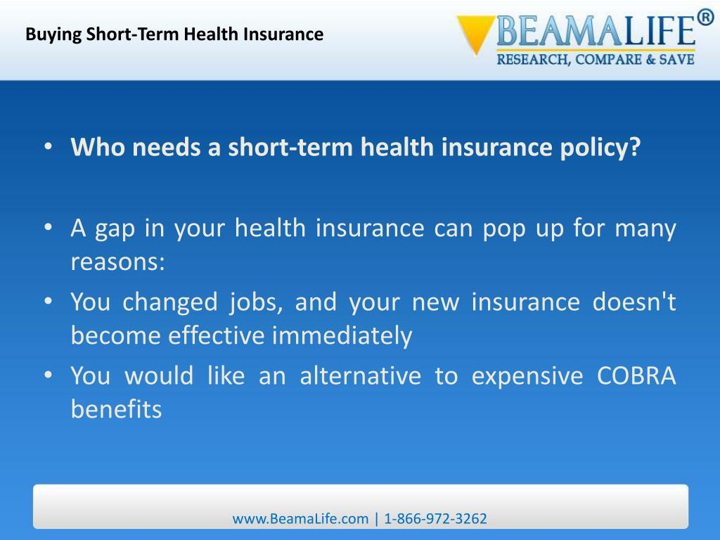 Buying Short-Term Health Insurance