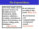 the exposed heart