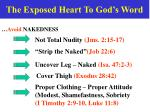 the exposed heart to god s word
