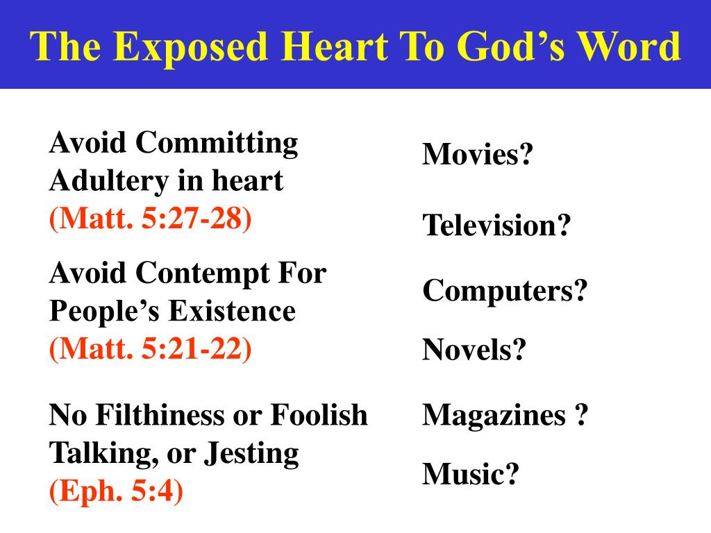 The Exposed Heart To God's Word