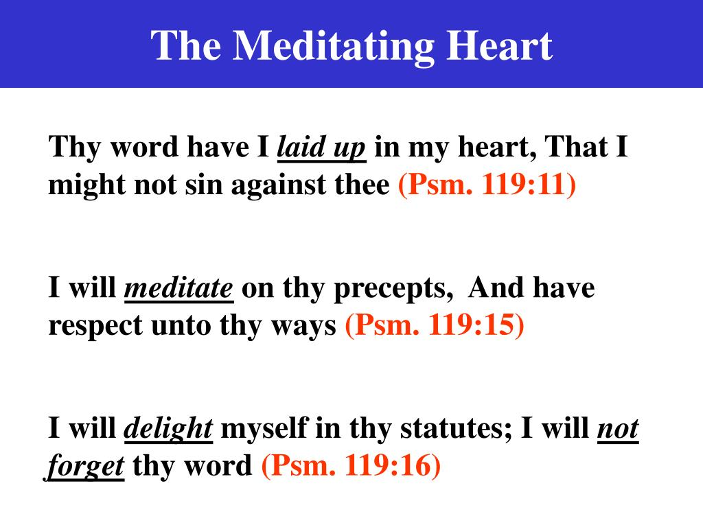 The Meditating Heart