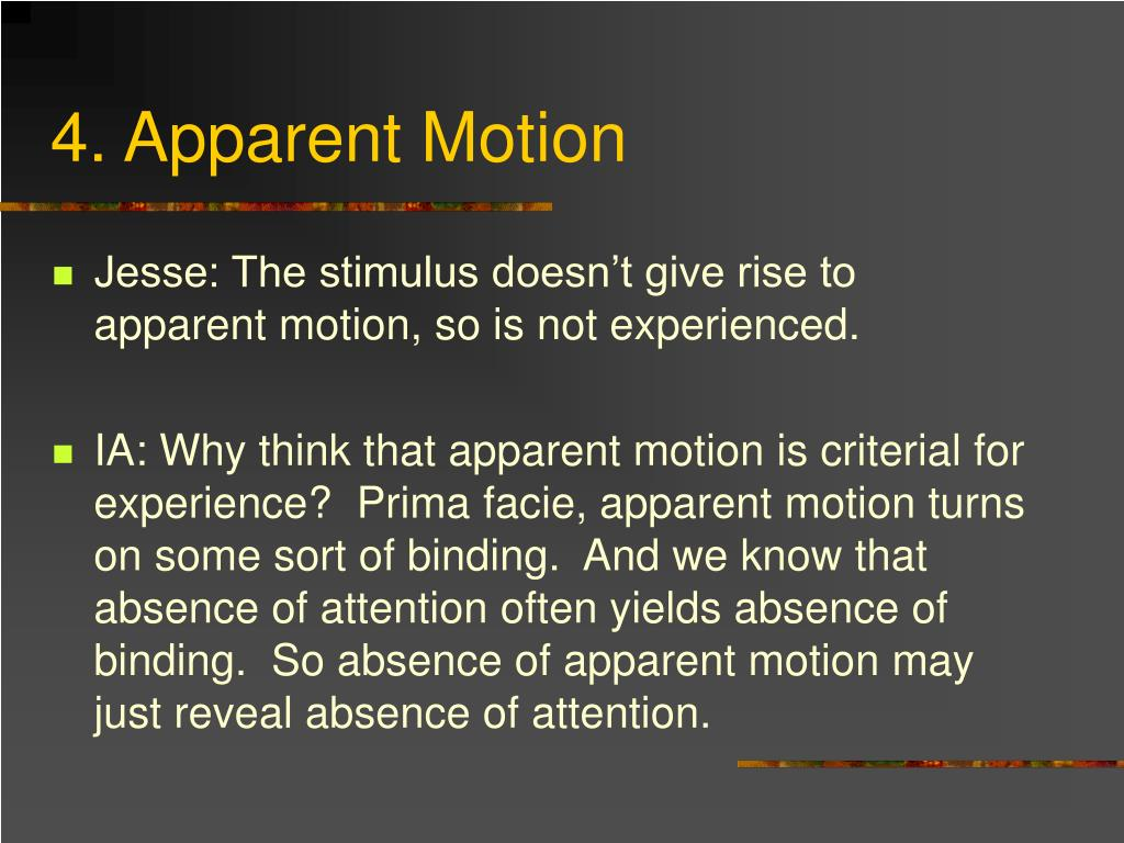 4. Apparent Motion