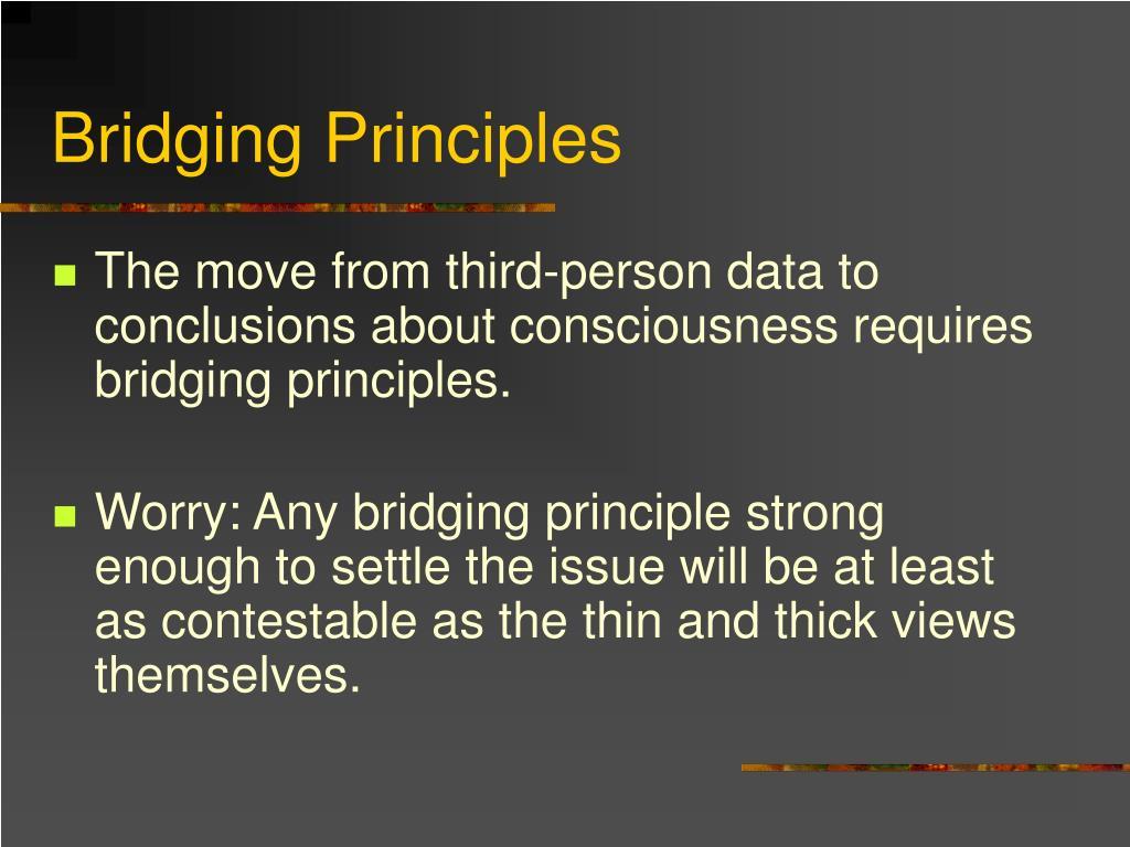 Bridging Principles