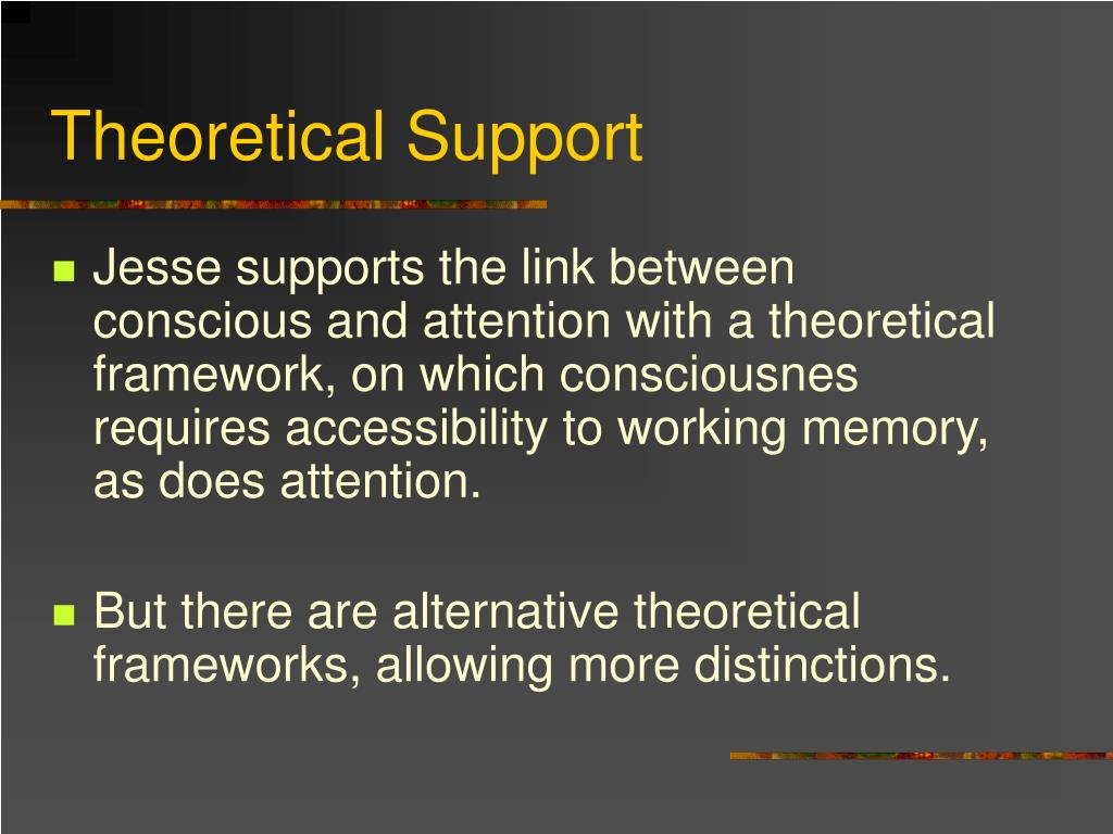 Theoretical Support