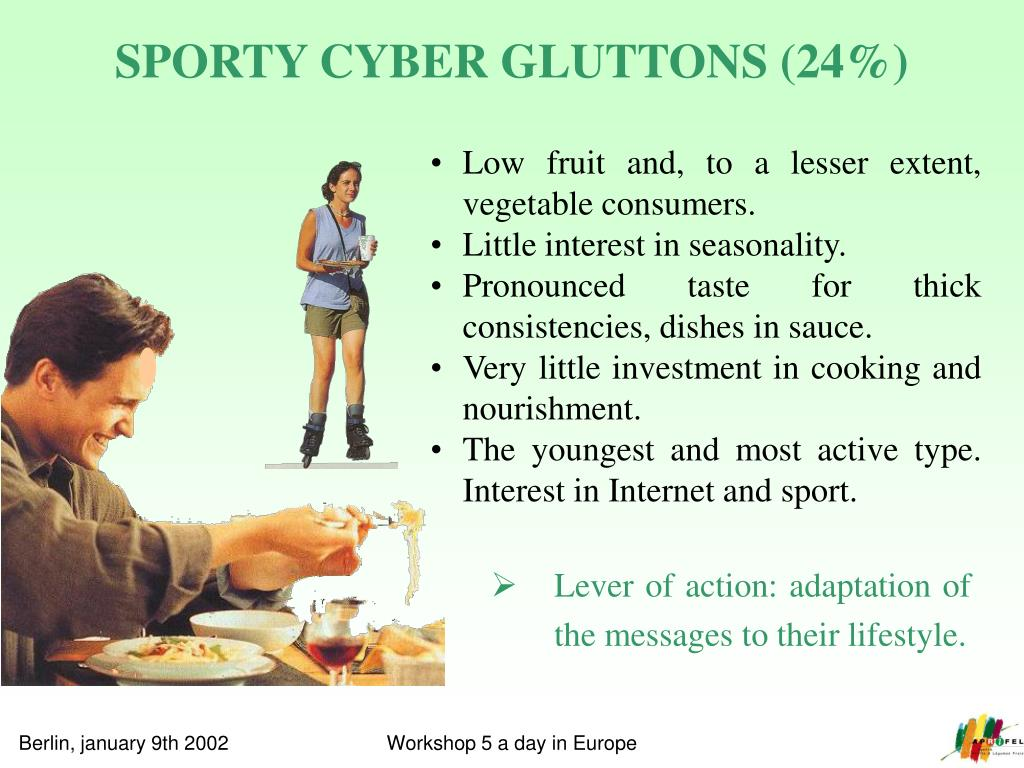 SPORTY CYBER GLUTTONS (24%)