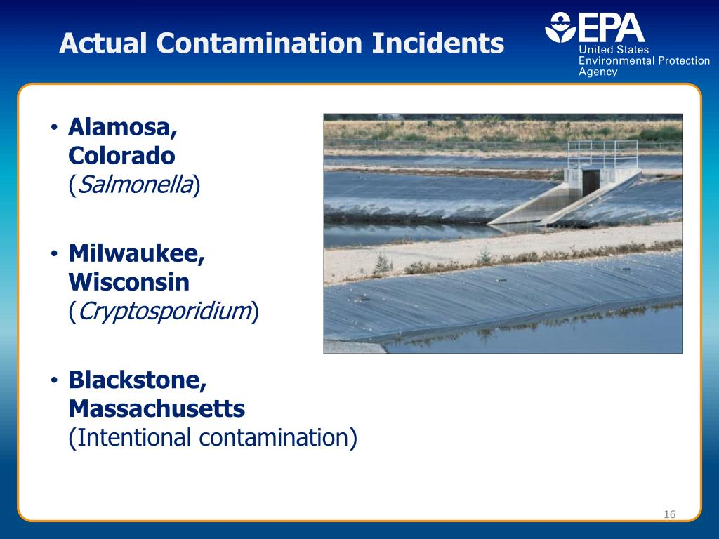 Actual Contamination Incidents