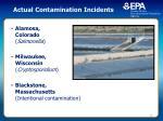 actual contamination incidents